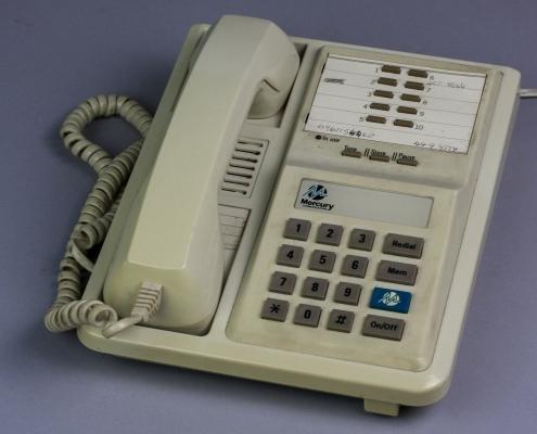 Mercury Blue Button Phone
